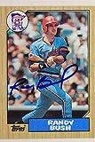 Randy Bush Minnesota Twins Autographed 1987 Topps #364 Signed Card 17G