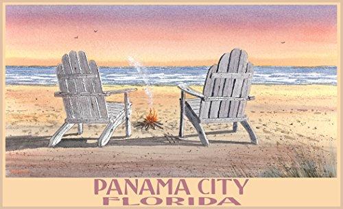 Northwest Art Mall BA-5629 ACB Panama City Florida Adirondack Chairs Beach Print by Artist Dave Bartholet, 11