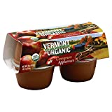 Vermont Village Organic Cinnamon Applesauce 4-Pack, 16-Ounce (Pack of 12)