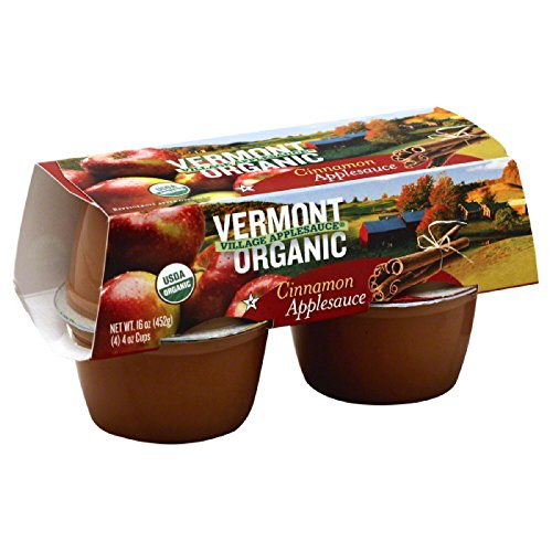- Vermont Village Organic Cinnamon Applesauce 4-Pack, 16-Ounce (Pack of 12)