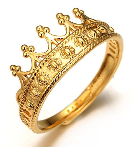 Crown Adjustable Ring (Halukakah 18k Real Gold Plated