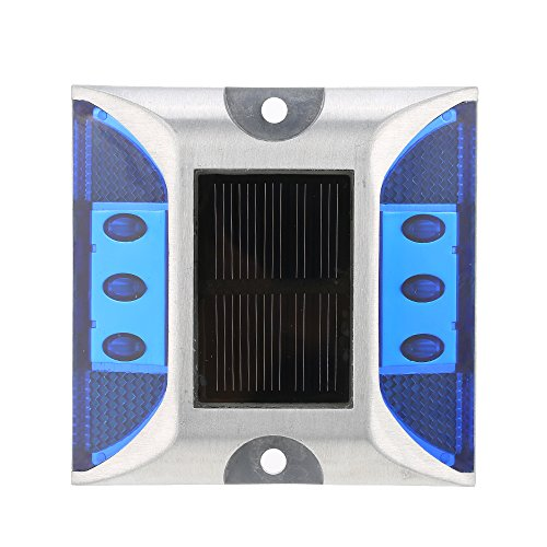 GXG-1987 2Pcs Waterproof Solar Powered Outdoor In-Ground Light Driveway LED Lamp Light Road Stud Pathway Marker Light - (Light Pathway Markers)
