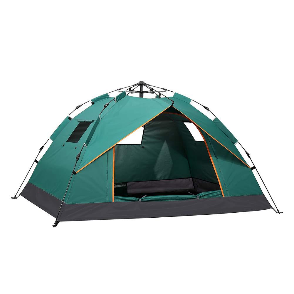 サンシェードテント ビーチテント テント 折りたたみ アウトドア用品キャンプ 海 花見運動会 登山用 紫外線防止テント ポップアップテント屋外キャンプテントポップアップビーチテントユニセックス自動クイックオープニング屋外テントポータブル折りたたみ防水屋外テント1120  Green B07PFXTJSF