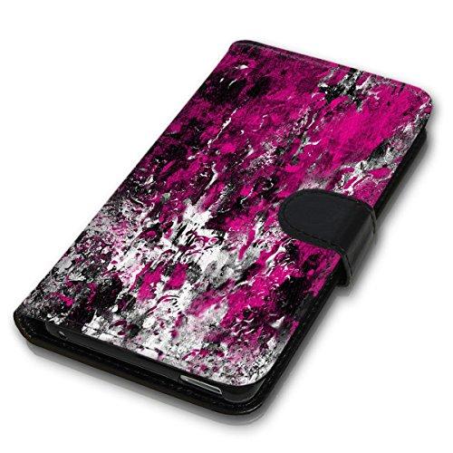 Wallet Book Style Flip Handy Tasche Case Schutz Hülle Schale Motiv Etui für Apple iPhone 6 / 6S - Design Flip MVD46