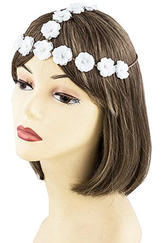 Je Me Costume (KARMAS CANVAS PEARL BEADED FORGET ME NOT HEAD CHAIN (White))