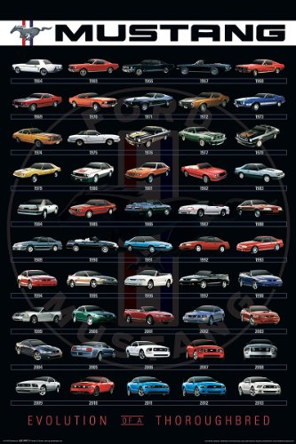 Ford - Mustang Evolution Poster Print (24 x 36) (1964 Poster Print)