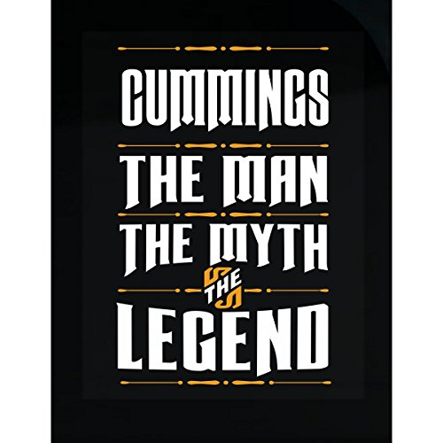 Cummings The Man The Myth The Legend Surname Humor - - Cumming Men