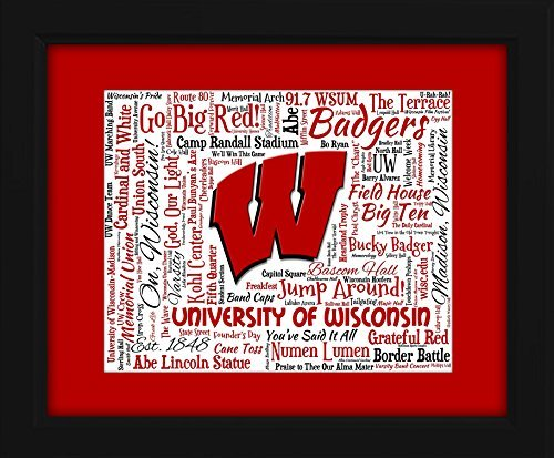 University of Wisconsin - Madison 16x20 Art Piece - Beautifully matted and framed behind glass