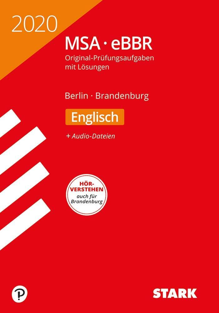 STARK Original Prüfungen MSA EBBR 2020   Englisch   Berlin Brandenburg