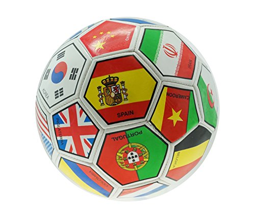 Mozlly Soccer Ball International Country Flags High End Colors Design Official Size 5 Sports Equipment - Item #108005