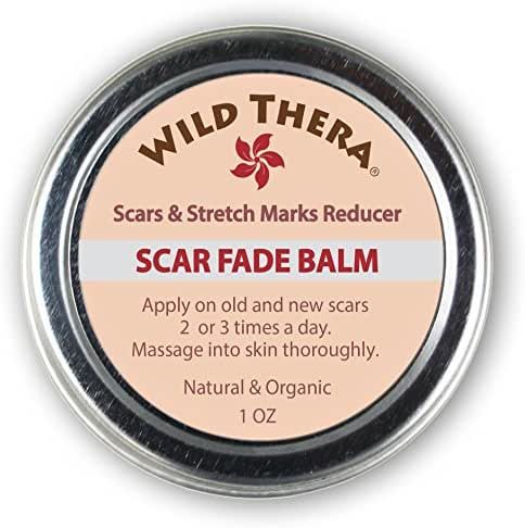 Wild Thera Scar Remover for Stretch Marks, Acne Scar Removal, Pregnancy Scars, Surgery Scars, Sun Spots & Pock Marks. Herbal Scar Cream with Coconut Oil, Shea, Cocoa Butter, Jojoba Oil, Avocado Oil.
