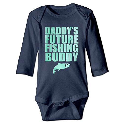 DADDYS Future Fishing Buddy Toddler Baby Onesies Cute Baby Clothes Long (Del Sol Buddy Club)