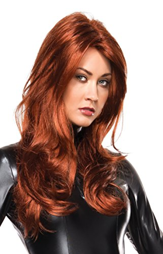 Black Widow Halloween Costumes Avengers (Marvel Universe Black Widow Wig, Multi, One Size)