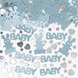 New Born Baby Boy Party Table Confetti with Little Stars & Hearts