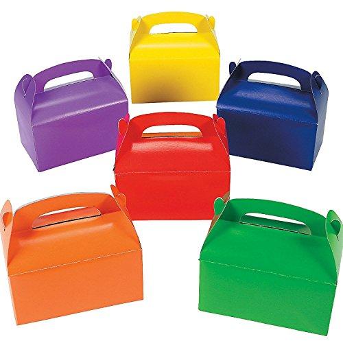 German Trendseller® - 12er Set Bunte Geschenke Boxen mit Henkel zum Befüllen ┃ Geschenkebox ┃ Kindergeburtstag ┃ Mitgebsel ┃ Gastgeschenk ┃ Überraschungsbox