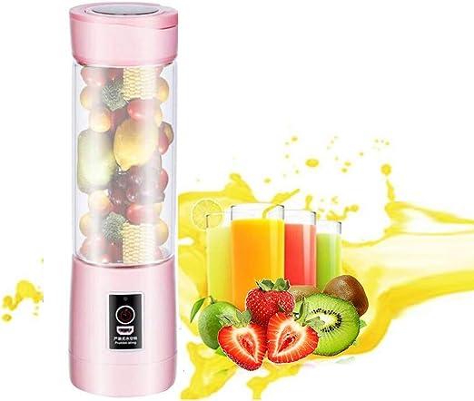 Licuadora portátil, 500 ml USB Juicer Cup, mezclador de frutas ...