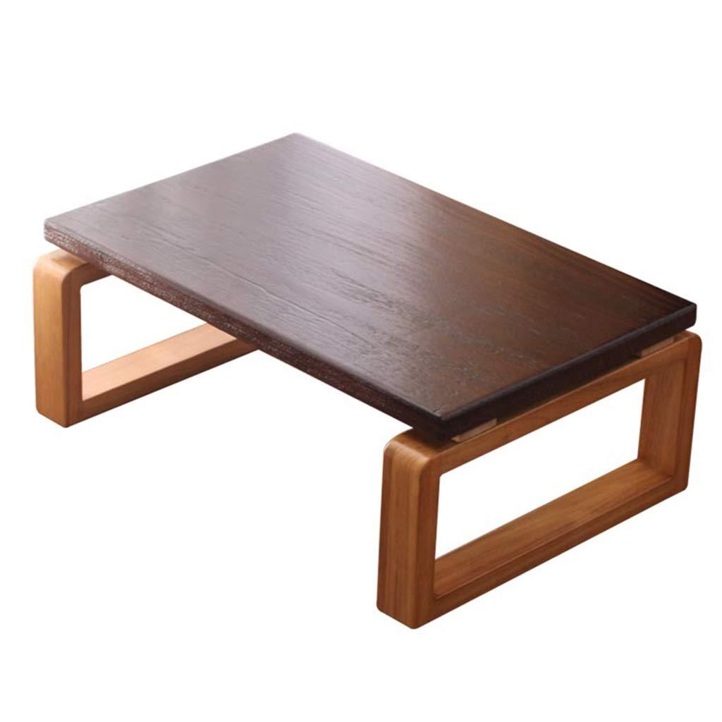 パソコンデスク ベッドテーブル出窓テーブル畳ローテーブル ホームバルコニー無垢材コーヒーテーブルテーブル リビングルームベッドルームスタディテーブルローテーブル 最高の贈り物 パソコンデスク (Color : Brown, Size : 80*50*30cm) B07NZRZMTY Brown 80*50*30cm