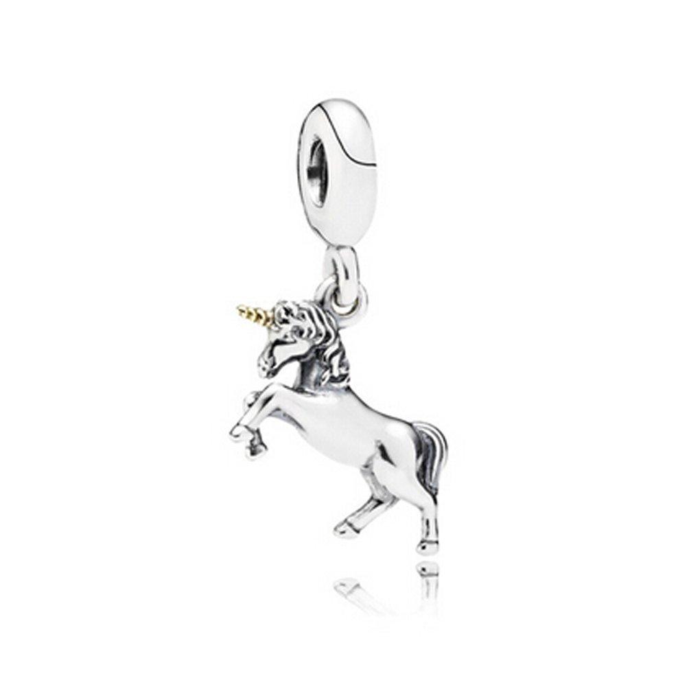 5 x Unicorn Pink Acrylic Charms Pendants