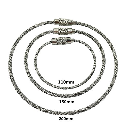 Buy cable key ring with screw lock