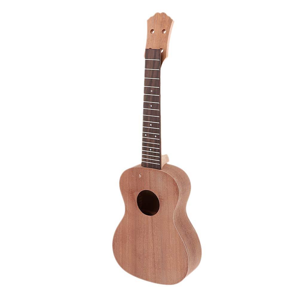 Homyl Kit de Bricolaje para Guitarra Hawaiano Ukelele de Silla de Montar de Nuez Estuces Fundas