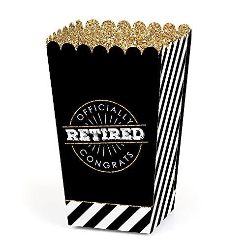 Happy Retirement - Retirement Party Favor Popcorn Treat Boxes - Set of 12 -