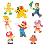 OliaDesign Super Mario Brothers Figures Set (8 Piece), 1.5