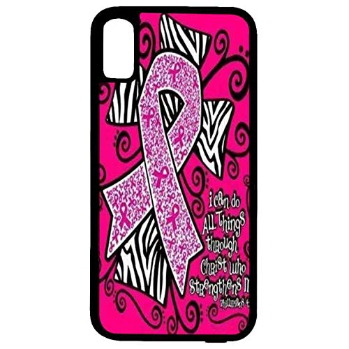 iPhone Xs/X Cover Breast Cancer Case for iPhone Xs TPU Gel Silicone Case for iPhone Xs Pink Ribbon Breast Cancer Ultra Slim Soft TPU Case for iPhone X