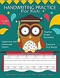 Handwriting Practice For Kids :100 Handwriting Practice Paper Workbook Sheets Alphabet Letters: Pre K, Kindergarten, Age 2-4, 3-5, Trace Alphabet Letters Portrait Pages