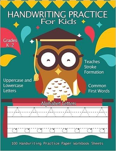 Handwriting Practice For Kids :100 Handwriting Practice Paper ...