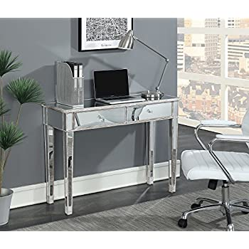 Amazon Com Convenience Concepts Gold Coast Mirrored Desk