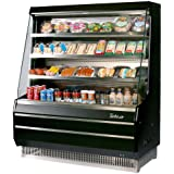 Turbo Air TOM50MB 50 Medium Display Merchandiser with Efficient Refrigeration System Attractive Glass Sides Anti-Rust Coating Back-Guard and Fluorescent Lighting: