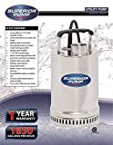 Superior Pump 91292 Stainless 1/4 HP Steel Utility