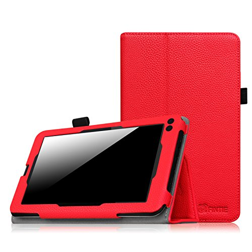 Fintie RCA Voyager 7 Case, Premium PU Leather Folio Cover Fits All Versions RCA Voyager 7 (2016, 2017) / RCA Voyager II 7 / Voyager III RCA 7 / RCA Voyager Pro 7 Android Tablet, Red