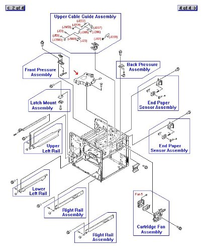 HP RG5-5826-090CN Laser/Scanner assembly - Mounts on the support structure in the print engine frame (Scanner Frame Assembly)