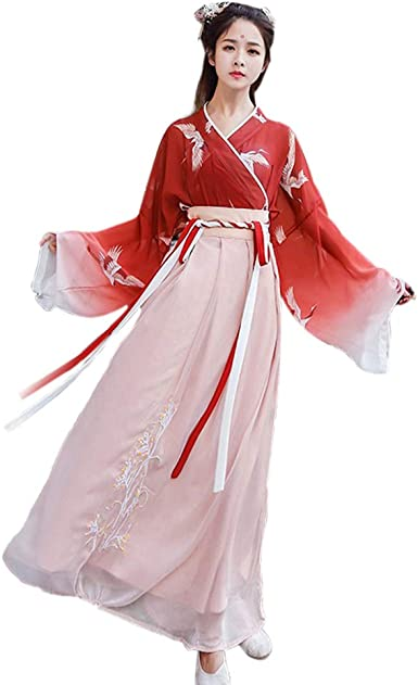Amazon Com Women S Ancient Chinese Traditional Hanfu Dress Cosplay Costume Set Embroidered Chinese Costume Clothing