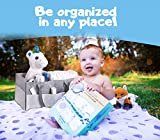 Baby Diaper Caddy Organizer – Large, Excellent