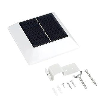 VBESTLIFE 6 LED Lámpara de Seguridad Solar Sensor de Movimiento Luz de Camino, Pared de