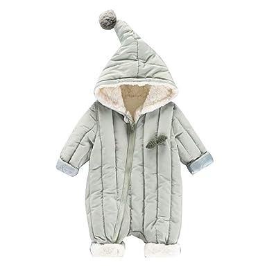 d5d9db022455a AMIGGOO 子供服 ベビー ロンパース 赤ちゃん 防寒着 つなぎ ダウンコート 裏起毛 サロペット コンパクト ポンポン