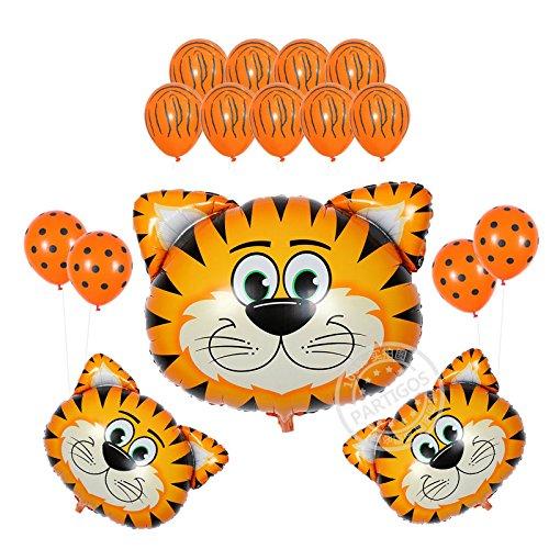 Partigos Zoo Animals Balloons birthday party decorations globos latex balloon (Tiger (Tiger Party Supplies)