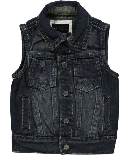 "Sean John Baby Boys' ""Breaker"" Denim Vest - vintage wash, 18 months"