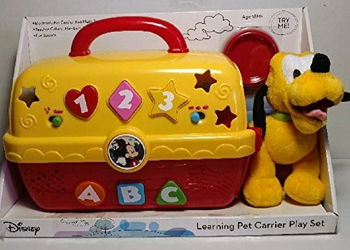 Disney Pluto Plush Toy and Learning Pet Carrier Play Set