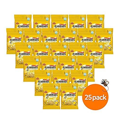 Honey Butter Almond Korean Snacks, Healthy 25 Individual Packs, 350 Gram, by Murgerbon
