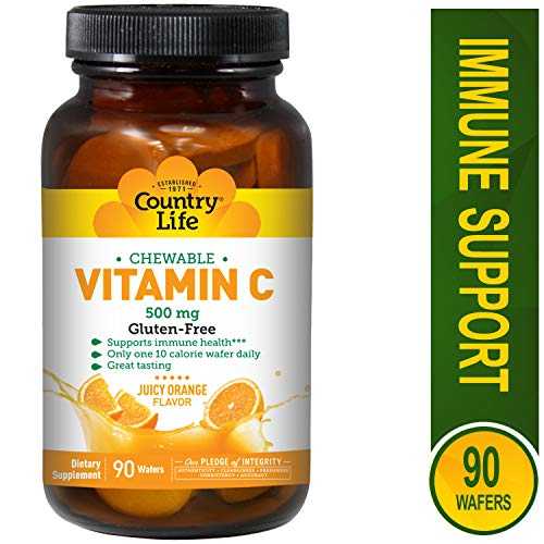 Country Life Vitamin C Wafer 500 mg, 90 wafers