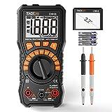 Voltage Meter, Tacklife Battery Tester 1.5V/6V/9V/12V Volt Meter, Auto-Ranging Digital Multimeter, Diode, Resistance, Capacitance Meter, Voltage Converter, 2.2 Inch LCD, 24-Month Warranty | DM08
