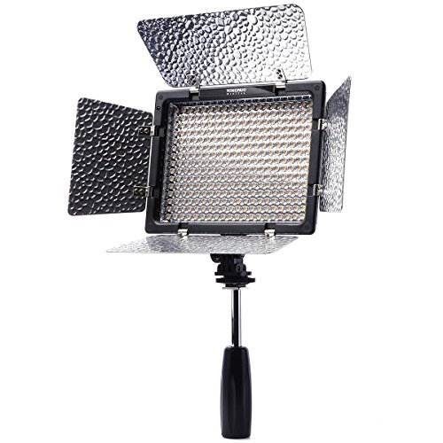 Yongnuo YN300 II LED Video Light for Camera Camcorder Nikon D5200 D5100 D4 LF235 by GadgetCenter