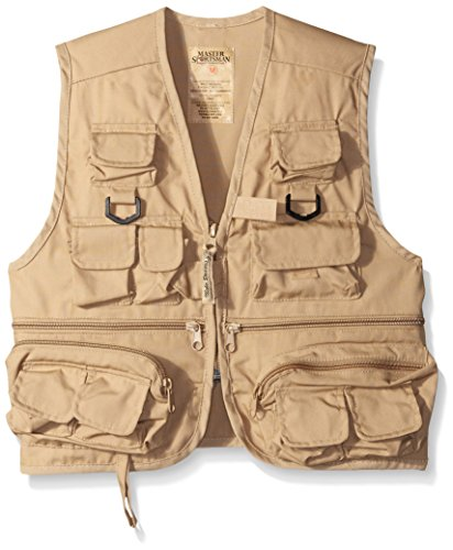 Master Sportsman Kids 26 Pocket Fishing Vest, Large, Khaki