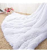 Homore Soft Fluffy Blanket Fuzzy Sherpa Plush Cozy Faux Fur Throw Blankets for Bed Couch Sofa Cha...