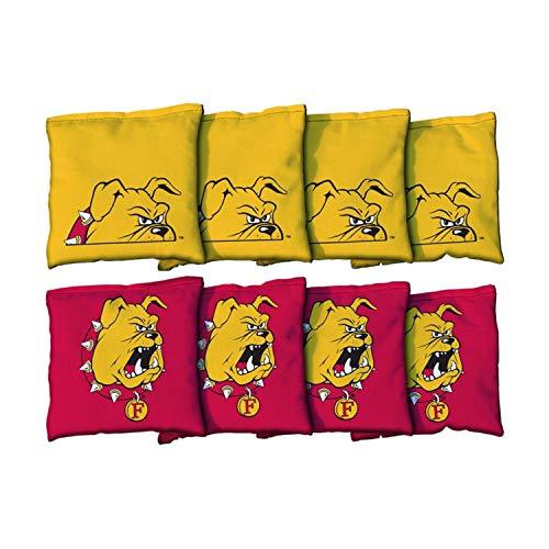 (Victory Tailgate NCAA Collegiate Regulation Cornhole Game Bag Set (8 Bags Included, Corn-Filled) - Ferris State University Bulldogs)