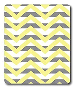computer mats Chevron Stripe Yellow PC Custom Mouse Pads / Mouse Mats Case Cover