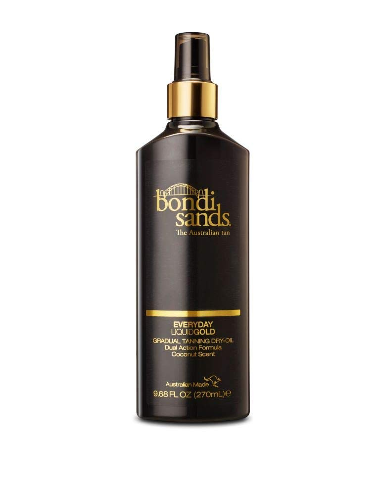 Bondi Sands Everyday Liquid Gold Self-Tanning Dry Oil | Gradual Tanning Oil Builds a Natural Glow in 1-3 Applications, Enriched with Argan Oil, Vegan + Cruelty Free, Coconut Scent | 270 mL/9.68 Oz